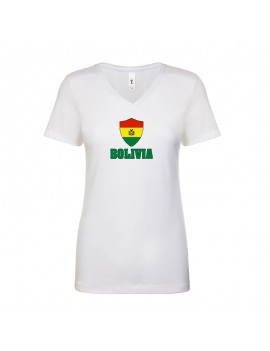 Bolivia World Cup Center Shield Women's T-Shirt