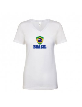 Brasil World Cup Center Shield Women's T-Shirt