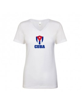 Cuba World Cup Center Shield Women's V-Neck