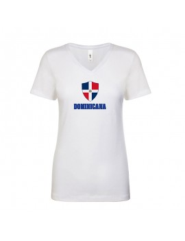 Dominican Republic World Cup Center Shield Women's V-Neck