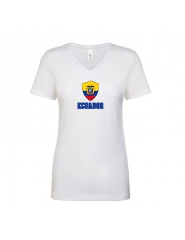 Ecuador World Cup Center Shield Women's V-Neck