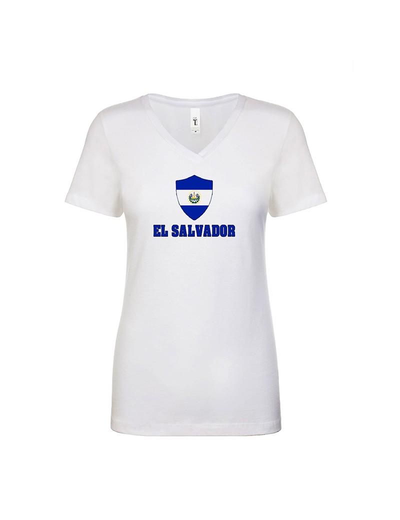 El Salvador World Cup Center Shield Women's V-Neck