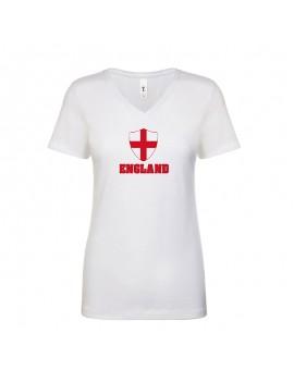 England World Cup Center Shield Women's V-Neck