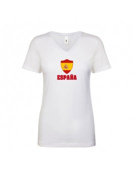 Spain World Cup Center Shield Women's V-Neck
