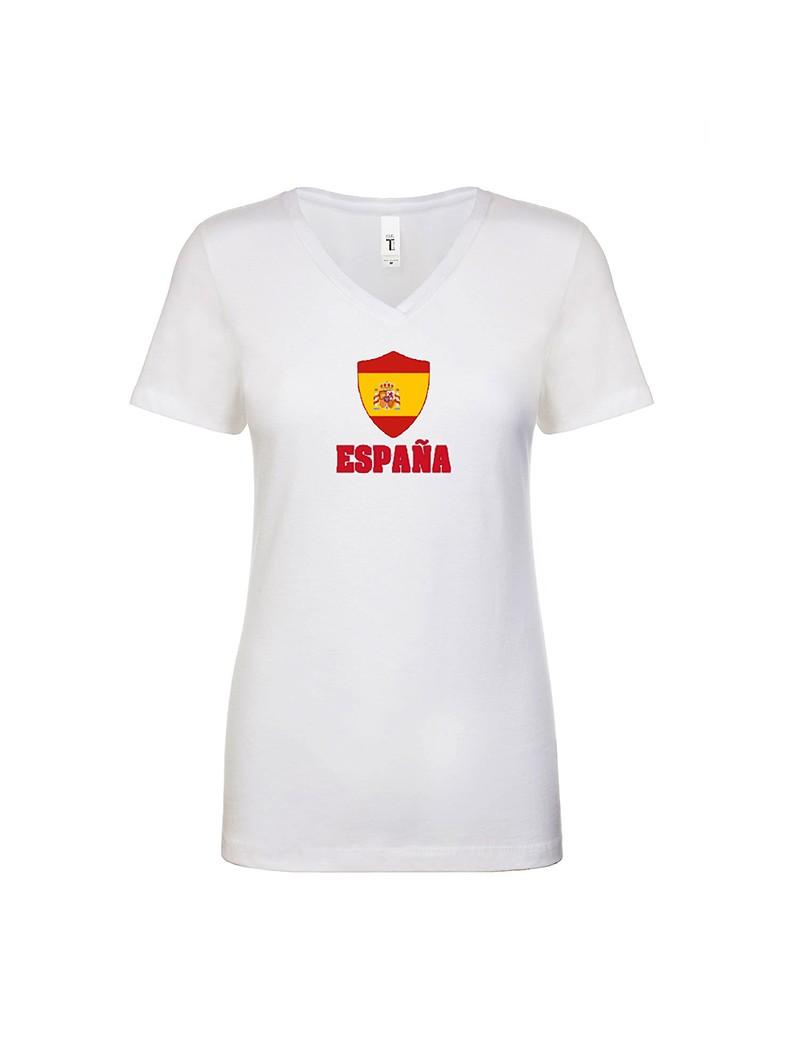 Spain World Cup Center Shield Women's V-Neck