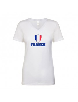 France World Cup Center Shield Women's V-Neck