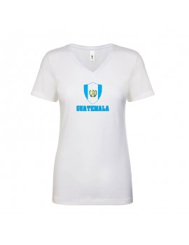 Guatemala World Cup Center Shield Women's V-Neck