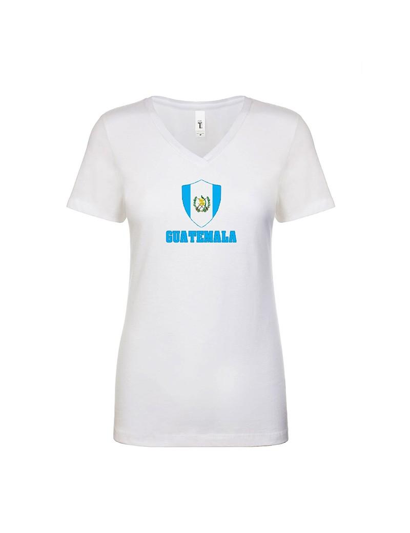 Guatemala World Cup Center Shield Women's V-Neck