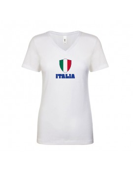 Italy World Cup Center Shield Women's V-Neck