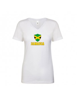 Jamaica World Cup Center Shield Women's V-Neck