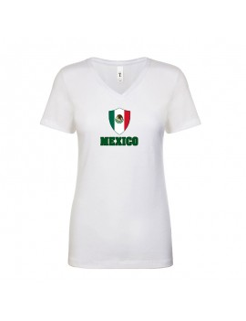 Mexico World Cup Center Shield Women's V-Neck