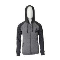 Real Madrid Youth Zip Up Jacket Black/Gray - Side Logo