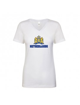Netherlands World Cup Center Shield Women's V-Neck