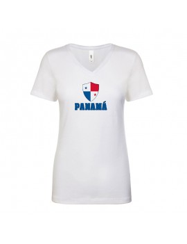 Panama World Cup Center Shield Women's V-Neck