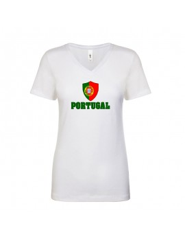 Portugal World Cup Center Shield Women's V-Neck