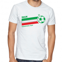 Iran Men Men's Round Neck T Shirt Jersey  The national team ball