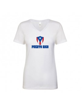 Puerto Rico World Cup Center Shield Women's V-Neck
