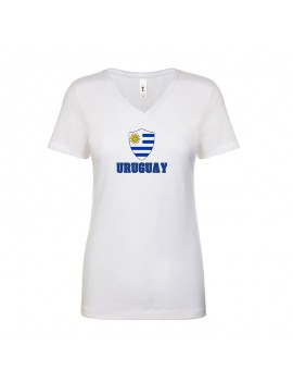 Uruguay World Cup Center Shield Women's V-Neck