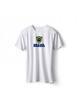 Brasil World Cup Center Shield Men's T-Shirt