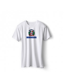 Dominican Republic World Cup Center Shield Men's T-Shirt