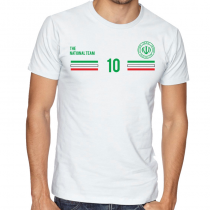 Iran  Men's Round Neck  T Shirt Jersey  10 Shield