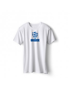 Greece World Cup Center Shield Men's T-Shirt