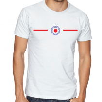 Japan Men's Round Neck  T Shirt Jersey Shield