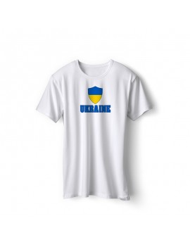 Ukraine World Cup Center Shield Men's T-Shirt