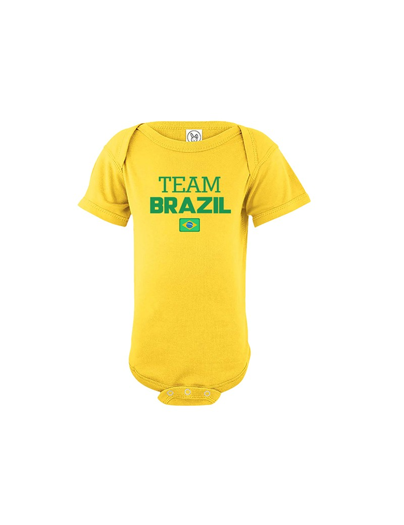 Brasil  baby bodysuit  World Cup kids boys toddler jersey soccer national team Brazil