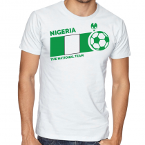 Nigeria Men Men's Round Neck T Shirt Jersey  The national team ball