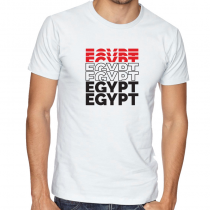 Egypt Men's Round Neck  T Shirt Jersey   Egypt letters