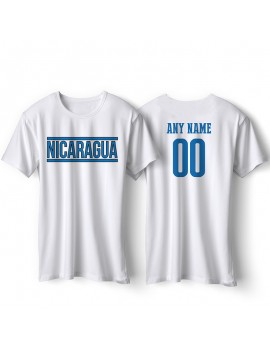 Nicaragua National Pride Country Flag T-Shirt Nicaragua Libre Personalized