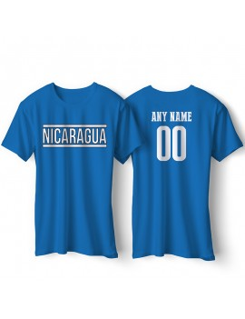 Nicaragua National Pride Country Flag T-Shirt Nicaragua Libre Personalized
