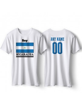 Nicaragua National Pride T-Shirt ¡Soy Nicaragua! Personalized