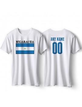 Nicaragua National Pride T-Shirt Nicaragua Flag Personalized
