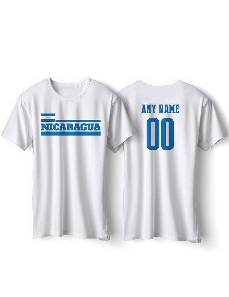 Nicaragua National Pride T-Shirt Nicaragua Flag Style 2 Personalized