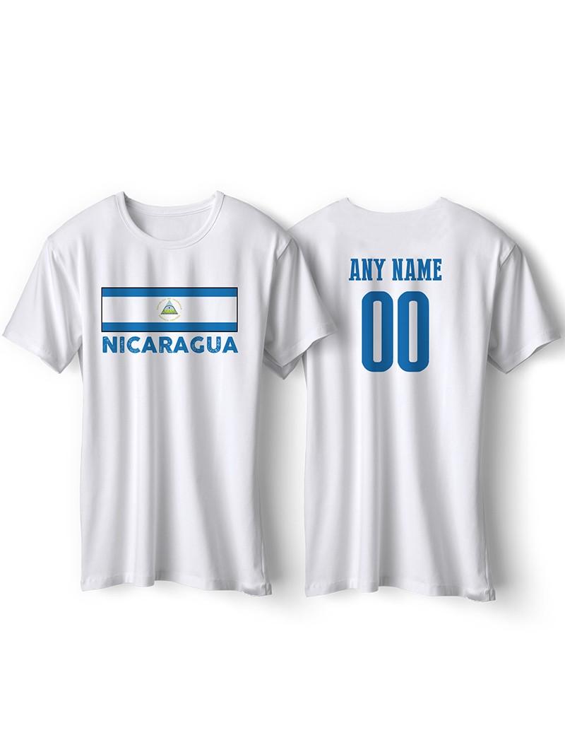 Nicaragua National Pride T-Shirt Nicaragua Flag Style 3 Personalized