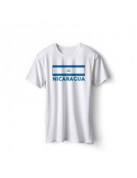 Nicaragua National Pride Country flag T-Shirt Style 3