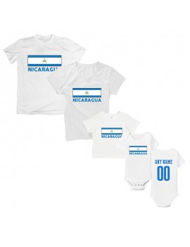 Nicaragua Country Flag T-Shirt Matching Set Personalized Style 2