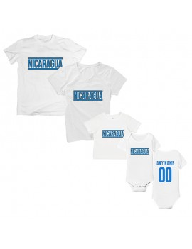 Freedom For Nicaragua T-Shirt Matching Set Personalized