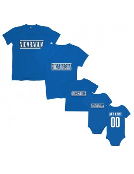 Freedom For Nicaragua T-Shirt Matching Set Personalized Blue