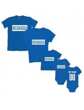 Freedom For Nicaragua T-Shirt Matching Set Personalized Blue Style 2