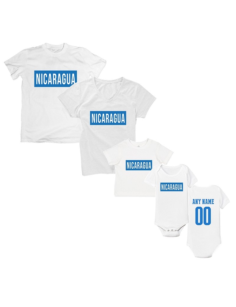 Freedom For Nicaragua T-Shirt Matching Set Personalized Style 2
