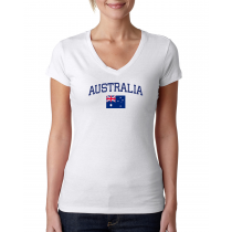 Women's V Neck Tee T Shirt  Country Australia