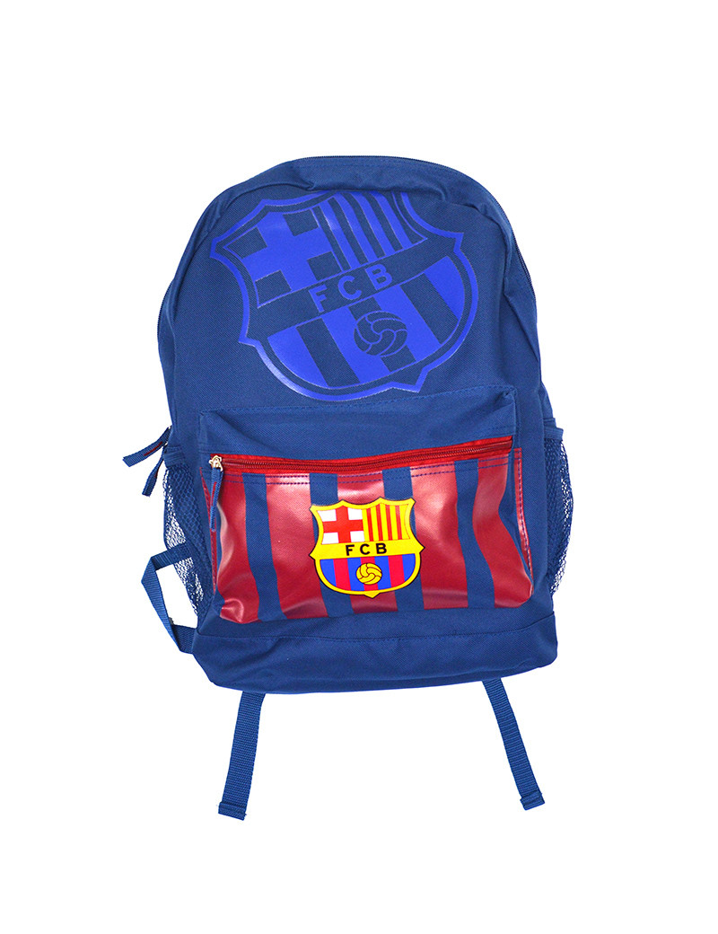 FC Barcelona Medium Backpack Blue - FRONT