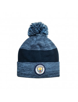 Manchester City Adult's Pom Beanie Hat Authentic Official