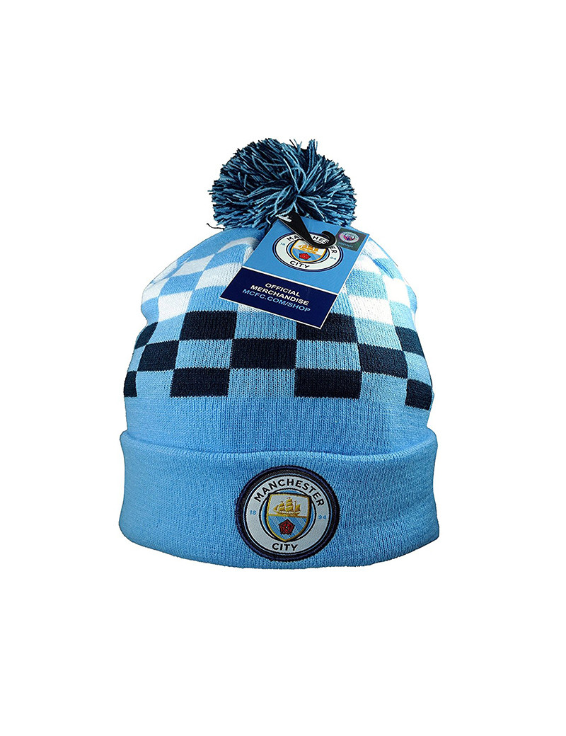 Manchester City Adult's Pom Beanie Light Blue