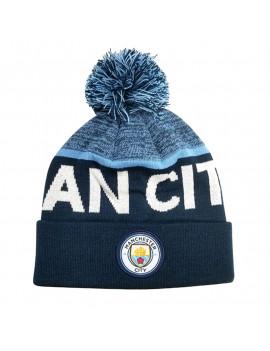 Manchester City Beanie Hat Denim Blue - Front
